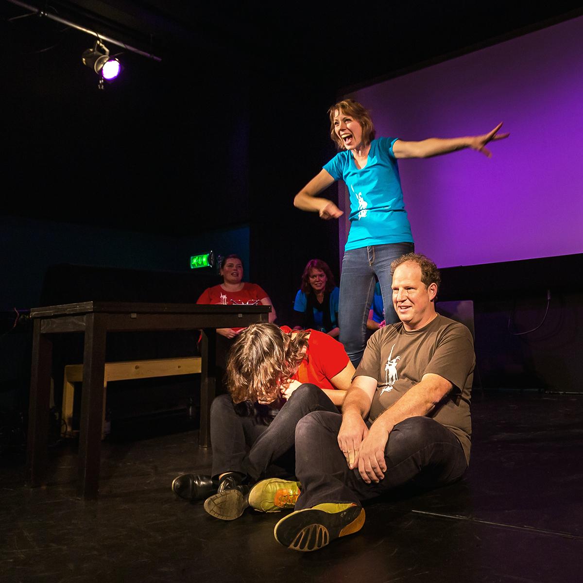 Eeen Sauna-receptionist, een kabouter en een fee... Theatersport door Dulcinea in Pand-P te Eindhoven